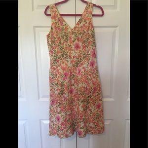 Ann Taylor Loft dress sleeveless size 6 multicolor
